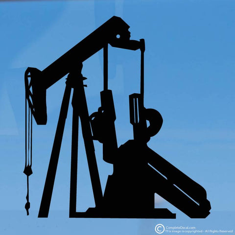 Large Oil Pumpjack decal sticker