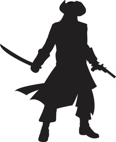 Swashbuckling Pirate with Sword vinyl decal sticker