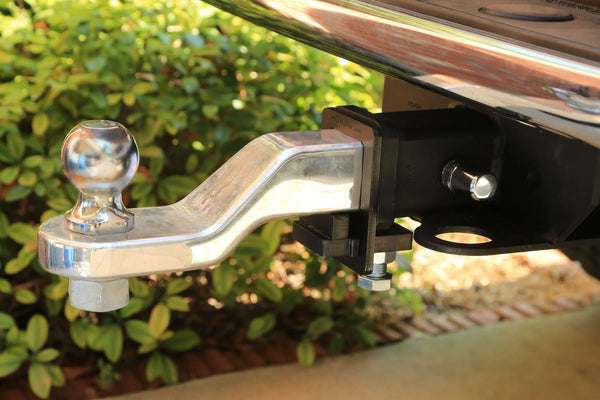 "HitchClamp 2"" mounted on Dodge Truck with towing hitch"