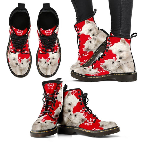 West Highland White Terrier Print Boots For Women-Express Shipping