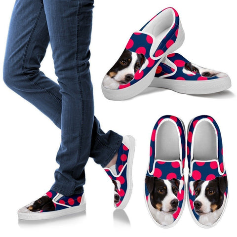 Danish Swedish Farmdog Print Slip Ons For Women- Express Shipping