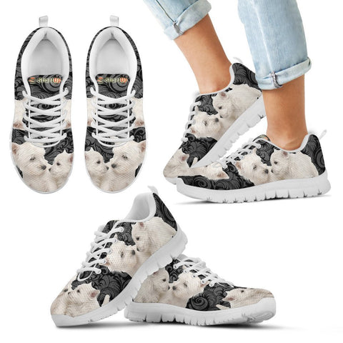 Westie Print-Kid's Running Shoes-Free Shipping