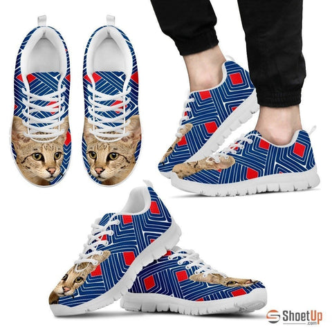 Savannah Cat Print Running Shoes For Men-Free Shipping