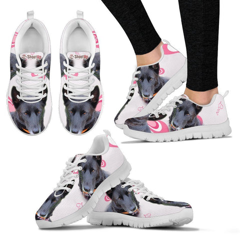 Amazing Customized Dog Print Running Shoes For Women-Express Shipping- Designed By Maria Chambers