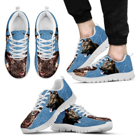 Dutch Shepherd Print (Black/White) Running Shoes For Men-Free Shipping Limited Edition
