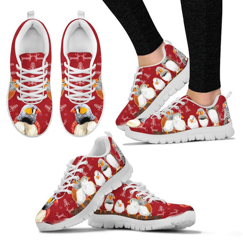 Zebra Finch Bird Christmas Running Shoes For Women- Free Shipping