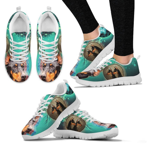 Doberman Pinscher Print Sneakers For Women- Free Shipping