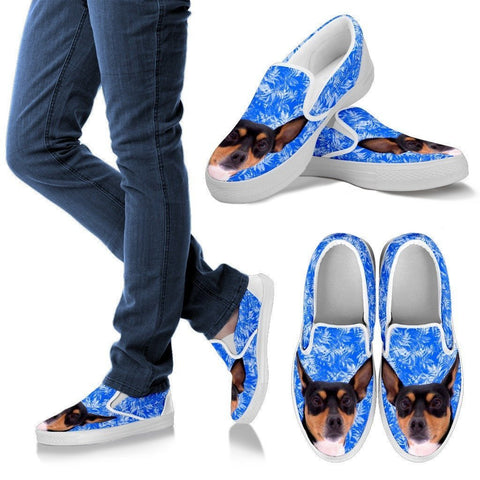 Toy Fox Terrier Dog Print Slip Ons For Women-Express Shipping
