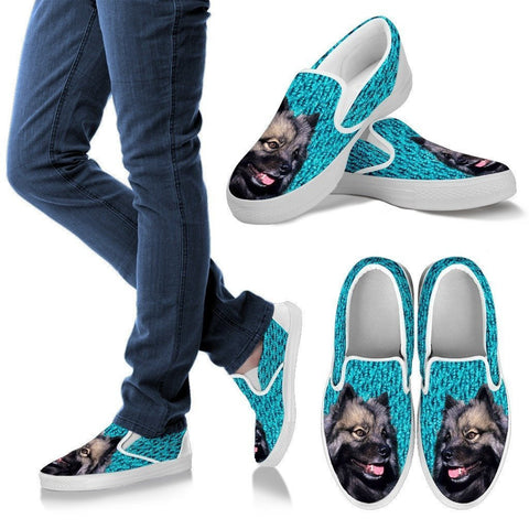 Keeshond Dog Slip Ons For Women-Free Shipping