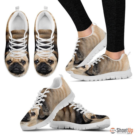 Pug Dog Running Shoes For Women-3D Print-Free Shipping