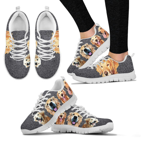 Golden Retriever Art Print Running Shoes For Women-Free Shipping