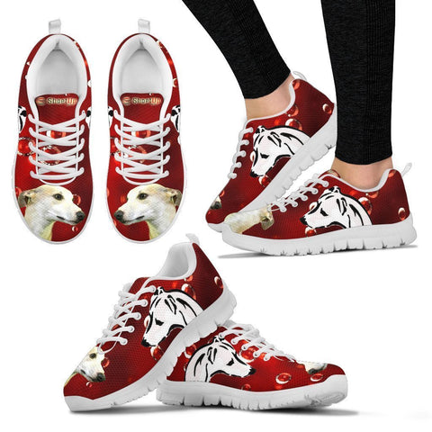 Whippet On Red-Women's Running Shoes-Free Shipping