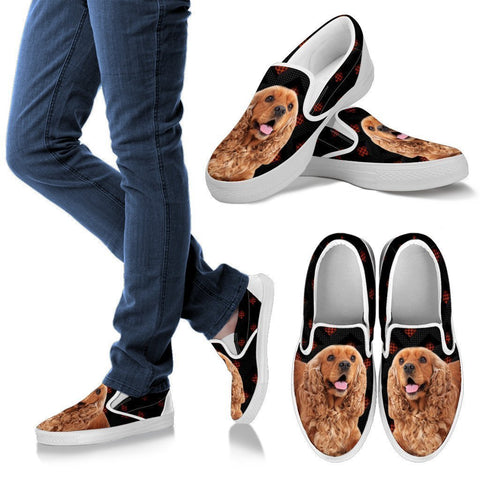 Cute Cocker Spaniel Print Slip Ons For Women-Free Shipping