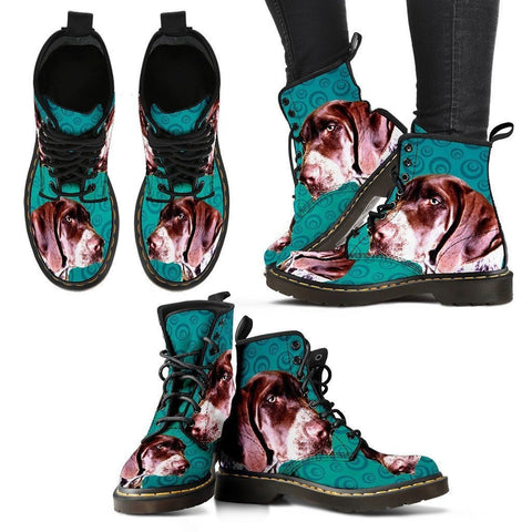 Pointer (German Shorthaired) Print Boots For Women-Express Shipping