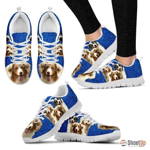 Customized Three Dog Print (Black/White) Running Shoes For Women-Free Shipping