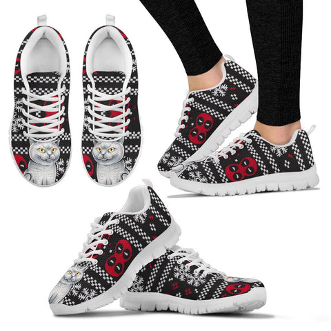 British Shorthair Cat Christmas Print Running Shoes For Women-Free Shipping