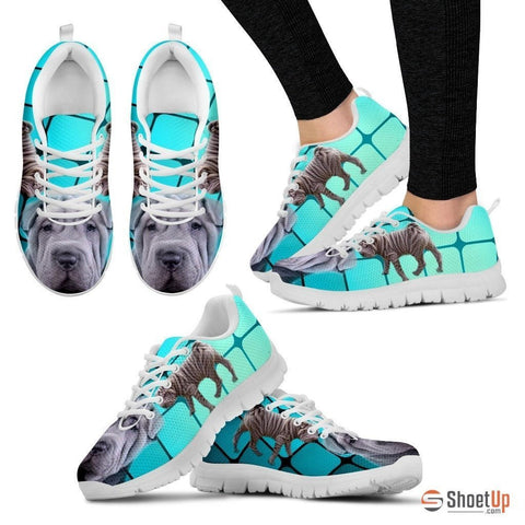 Shar Pei-Dog Running Shoes For Women-Free Shipping