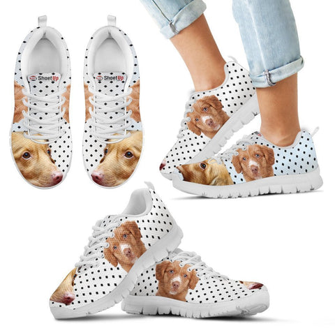 Nova Scotia Duck Tolling Retriever Black Dots Print Running Shoes For Kids-Free Shipping