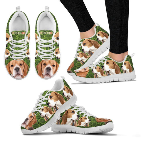 Beagle On Green-Women's Running Shoes-Free Shipping