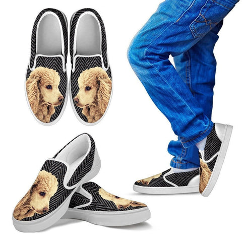 Poodle Dog Print Slip Ons For Kids-Express Shipping
