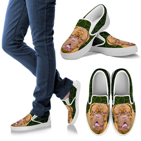 Mastiff Dog Print Slip Ons For Women-Express Shipping