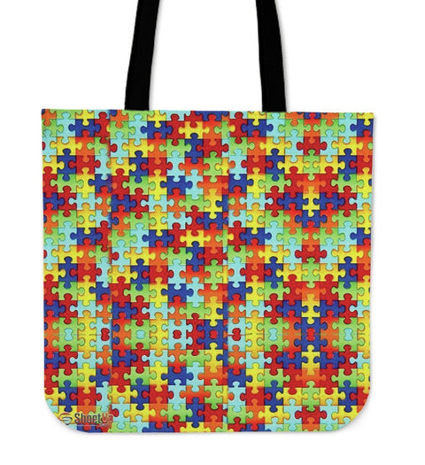 Autism Symbol Tote Bags- Free Shipping