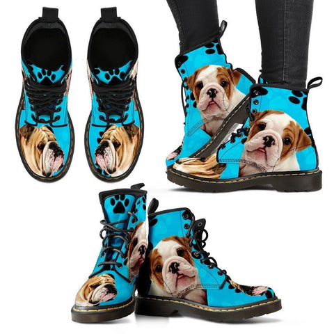 Bulldog Print Boots For Women-Express Shipping