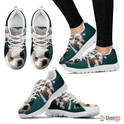 Double Boston Terrier-Dog Running Shoes For Women-Free Shipping