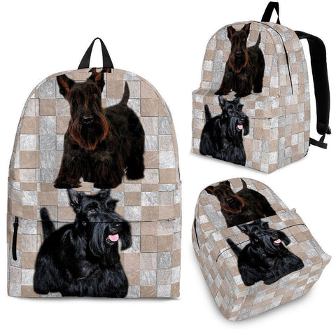 Scottish Terrier Dog Print Backpack-Express Shipping