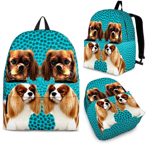 Cavalier King Charles Spaniel Dog Print Backpack-Express Shipping