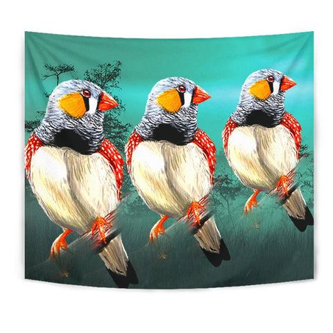 Zebra Finch Bird Print Tapestry-Free Shipping