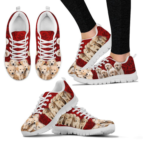 Golden Retriever In Group Print Running Shoes For Women- Free Shipping