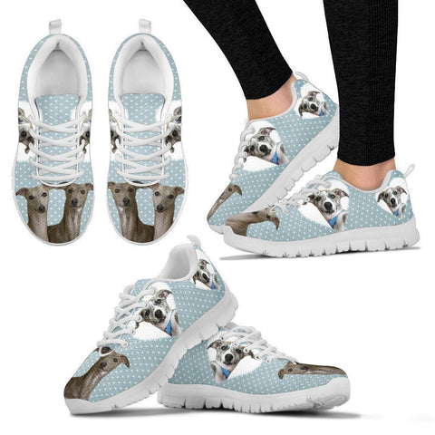 Whippet With Hearts Print Running Shoes For Women-Free Shipping
