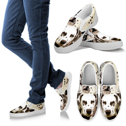 Dalmatian Dog Print Slip Ons For Women- Express Shipping