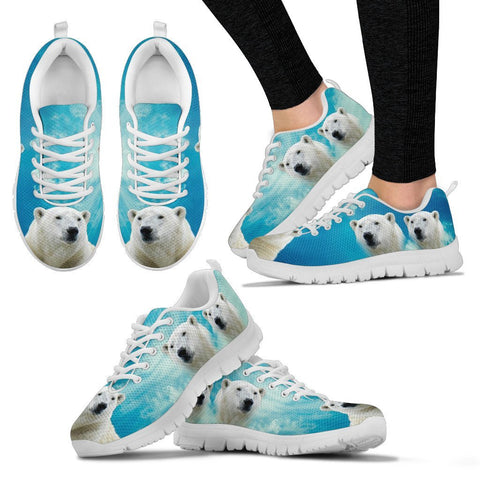 Polar Bear Print Running Shoes For Women-Free Shipping