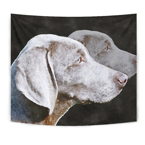 Weimaraner Dog Watercolor Art Print Tapestry-Free Shipping