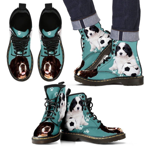 Landseer Dog Print Boots For Men- Express Shipping