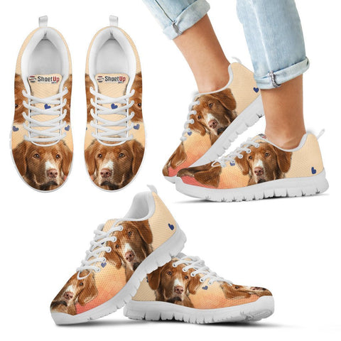 Nova Scotia Duck Tolling Retriever Print Running Shoes For Kids- Free Shipping