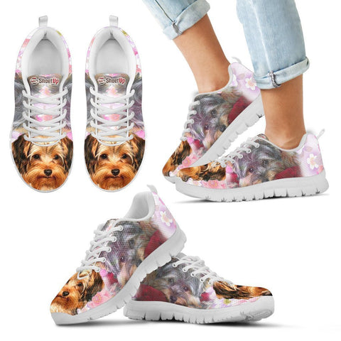 Lovely Yorkshire Terrier Print Running Shoes For Kids- Free Shipping