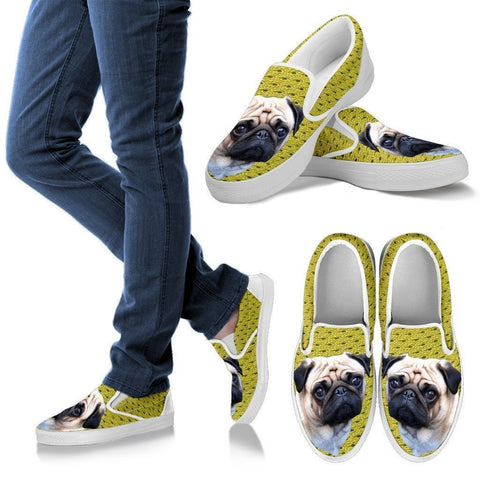 Pug Print-Slip Ons For Women-Express Shipping