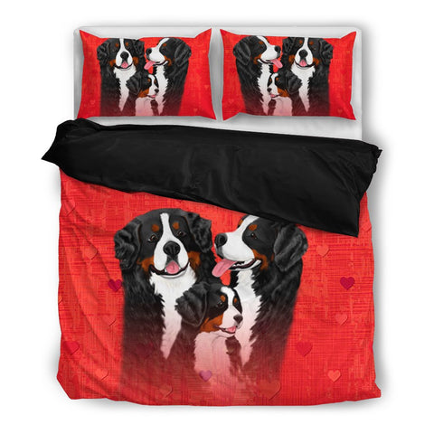 Valentine's Day Special-Bernese Mountain Dog Red Print Bedding Set-Free Shipping