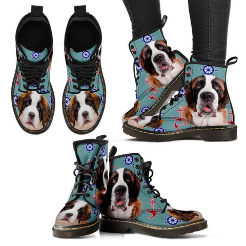 St. Bernard Print Boots For Women-Express Shipping