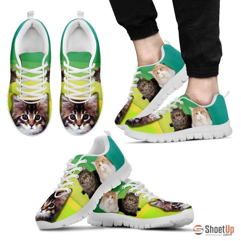 Cute Maine Coon Print Running Shoe For Men- Free Shipping