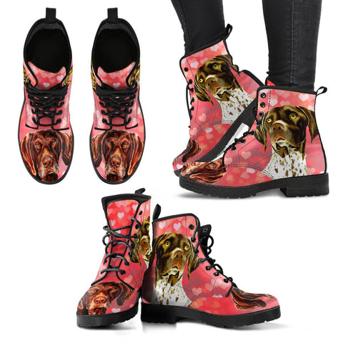 Valentine's Day Special-German Shorthaired Pointer Dog Print Boots For Women-Free Shipping