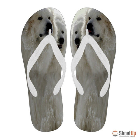 Great Pyrenees Print Flip Flops For Men-Free Shipping Limited Edition