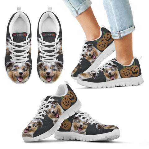 Miniature Australian Shepherd Halloween Print Running Shoes For Kids/Women-Free Shipping