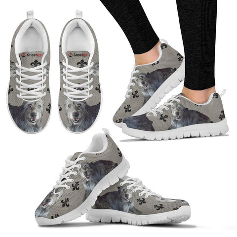 Irish Wolfhound Dog Print Running Shoes For Women-Free Shipping