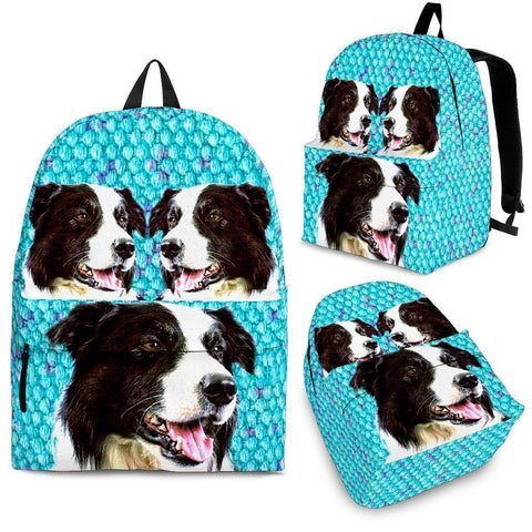 Border Collie Dog Print Backpack-Express Shipping