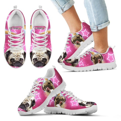 Cute Pug Print Running Shoes For Kids- Free Shipping