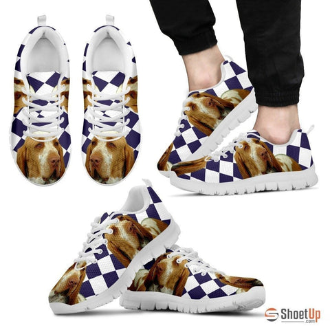 Bracco Italiano Dog (White/Black) Running Shoes For Men-Free Shipping
